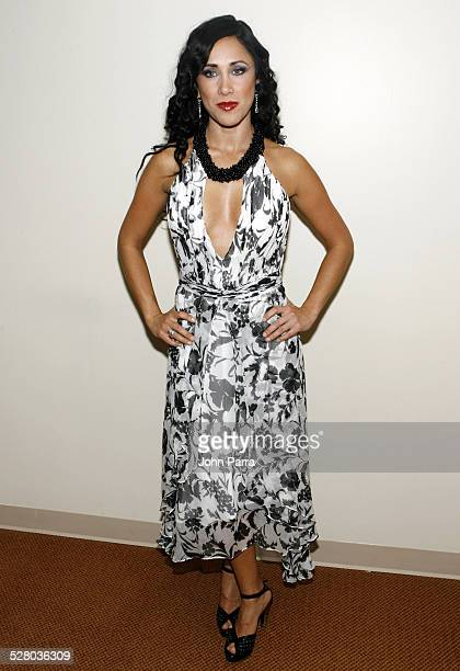 Monica Noguera during Miami Fashion Week 2006 Harpers Bazaar en Espanol Collection Arrivals at Knight Concert Hall in Miami Florida United States