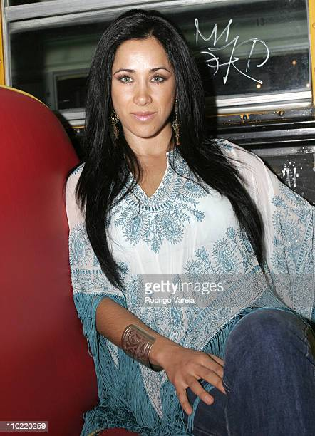 Monica Noguera during Paulina Rubio Press Conference April 13 2005 at The Pawn Shop in Miami Flordia United States