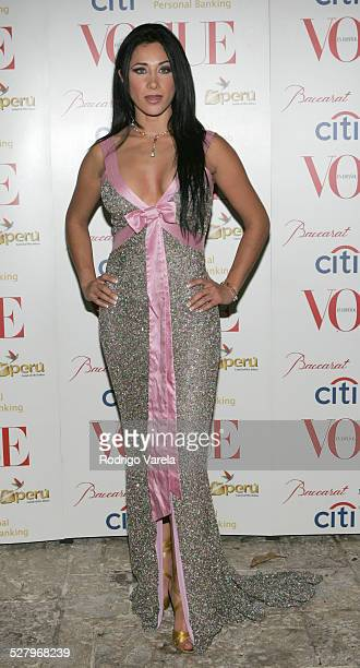 Monica Noguera during Vogue en Espanol Presents Spring Collection Red Carpet at Fisher Island in Miami Beach Florida United States