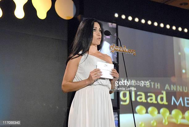 Monica Noguera Presenting Outstanding TV Journalism News Magazine