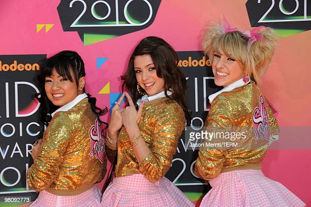 Monica Parales Jacque Rae Pyles and Mandy Rain of School Gryls arrive at Nickelodeon's 23rd Annual Kids' Choice Awards held at UCLA's Pauley Pavilion...