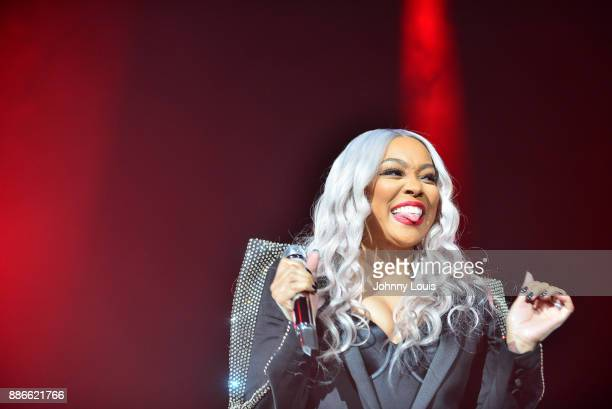 Monica performs during The Great Xscape tour at American Airlines Arena on December 5 2017 in Miami Florida