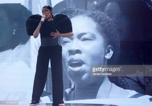 Monica performs onstage at Black Girls Rock 2019 Hosted By Niecy Nash at NJPAC on August 25, 2019 in Newark, New Jersey.