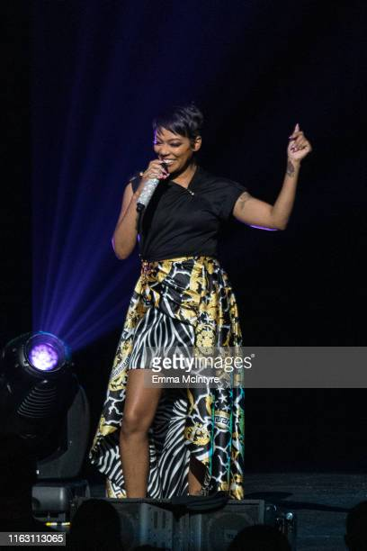 Monica performs onstage at Femme it Forward at Microsoft Theater on July 19 2019 in Los Angeles California