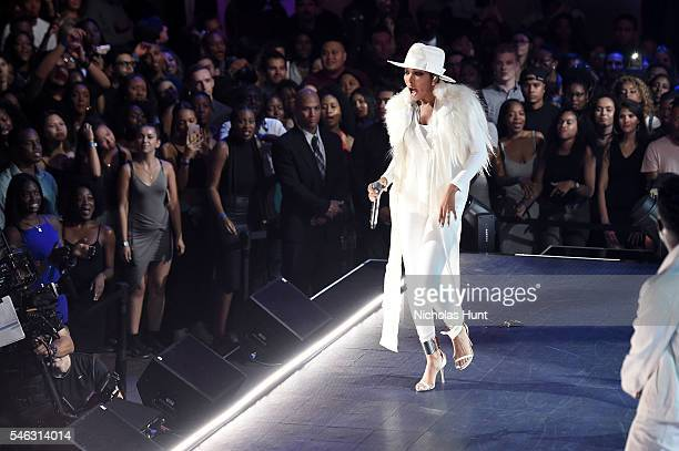 Monica performs onstage during the VH1 Hip Hop Honors All Hail The Queens at David Geffen Hall on July 11 2016 in New York City