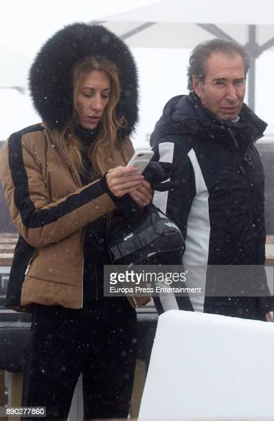 Monica Pont and Jose Cacheiro are seen on December 8 2017 in Baqueira Beret Spain