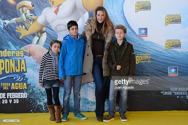 Monica Pont attends the 'Bob Esponja' Premiere at Kinepolis Cinema on January 31 2015 in Madrid Spain