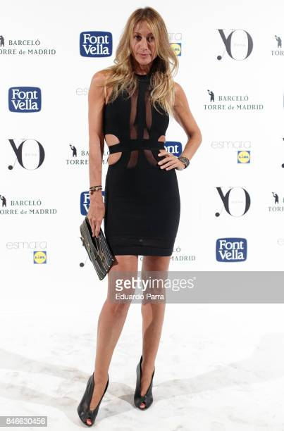 Monica Pont attends the 'Yo Dona MBFW opening party' photocall at Barcelo hotel on September 13 2017 in Madrid Spain