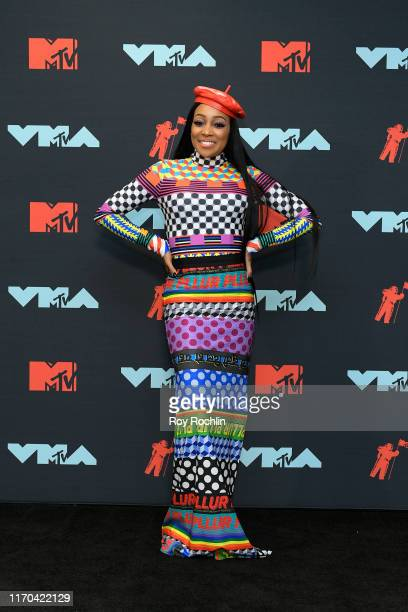 Monica poses in the Press Room during the 2019 MTV Video Music Awards at Prudential Center on August 26 2019 in Newark New Jersey