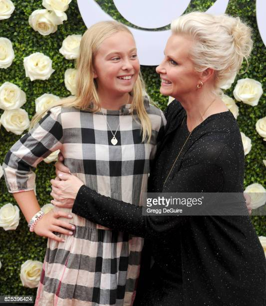 Monica Potter and daughter Molly Brigid Allison arrive at the 2017 Summer TCA Tour CBS Television Studios' Summer Soiree at CBS Studios Radford on...