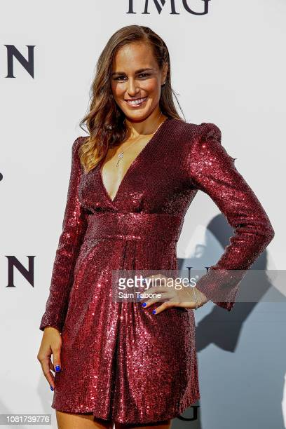 Monica Puig arrives at the 2019 Crown IMG Tennis Party at Crown Entertainment Complex on January 13 2019 in Melbourne Australia