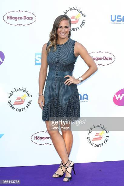Monica Puig attends the Women's Tennis Association Tennis on The Thames evening reception at OXO2 on June 28 2018 in London England The event was...