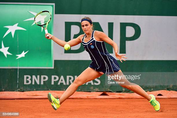 Monica Puig during the Women's Singles third round on day seven of the French Open 2016 on May 28 2016 in Paris France