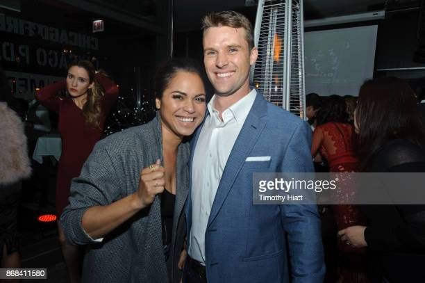 Monica Raymund and Jesse Spencer attend the One Chicago party during NBC's One Chicago press day on October 30 2017 in Chicago Illinois