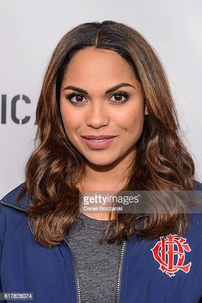 Monica Raymund attends NBC's Chicago series press day on October 24 2016 in Chicago Illinois