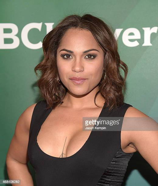 Monica Raymund attends the 2015 NBCUniversal Summer Press Day at the Langham Hotel on April 2 2015 in Pasadena California