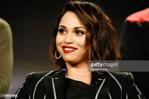 Monica Raymund of 'Hightown' speaks onstage during STARZ TCA Winter 2020 on January 14 2020 in Pasadena California