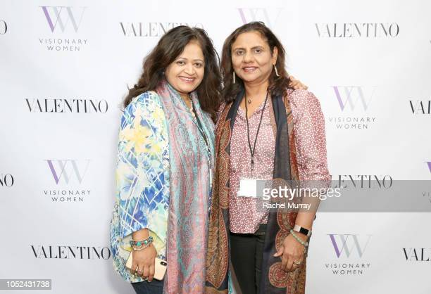 Monica Saoji and Aditi Khisti attend Visionary Women Consciousness The Ultimate Intelligence An Evening With Sadhguru on October 17 2018 in Beverly...