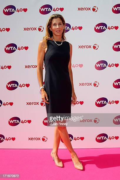 Monica Seles arrives for the WTA 40 Love Celebration during Middle Sunday of the Wimbledon Lawn Tennis Championships at the All England Lawn Tennis...