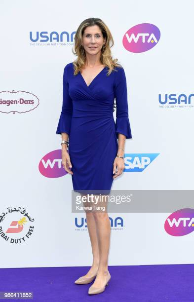 Monica Seles attends the WTA's 'Tennis On The Thames' evening reception at Bernie Spain Gardens South Bank on June 28 2018 in London England