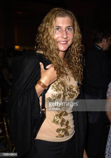 Monica Seles during 2003 Cannes Film Festival Roberto Cavalli Fashion Show Dinner at Palm Beach in Cannes France