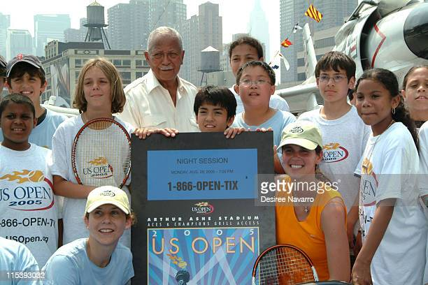 Monica Seles Former Major David Dinkins and Mary Joe Fernandez