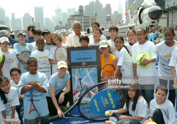 Monica Seles Former New York Mayor David Dinkins and Mary Joe Fernandez