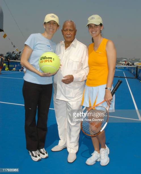 Monica Seles Mayor David Dinkins and Mary Joe Fernandez