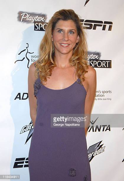 Monica SelesOlympic medalist in Tennis arrives on the Playtex Sport Pink Carpet at the Women's Sports Foundation 28th Annual Salute to women in...