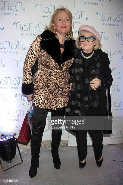 Monica Setta and her mother Miriam attend the Nanan Flagship Store Opening on January 27 2011 in Rome Italy