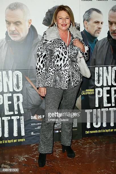 Monica Setta attends a premiere for 'Uno Per Tutti' at Cinema Adriano on November 25 2015 in Rome Italy