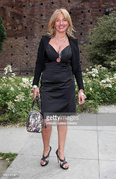 Monica Setta attends the RAI Autumn / Winter 2010 TV Schedule held at Castello Sforzesco on June 15 2010 in Milan Italy