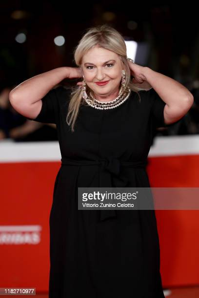 Monica Setta attends the red carpet of the movie Judy during the 14th Rome Film Festival on October 22 2019 in Rome Italy