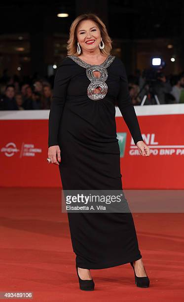 Monica Setta walks the red carpet for 'VilleMarie' during the 10th Rome Film Fest at Auditorium Parco Della Musica on October 20 2015 in Rome Italy