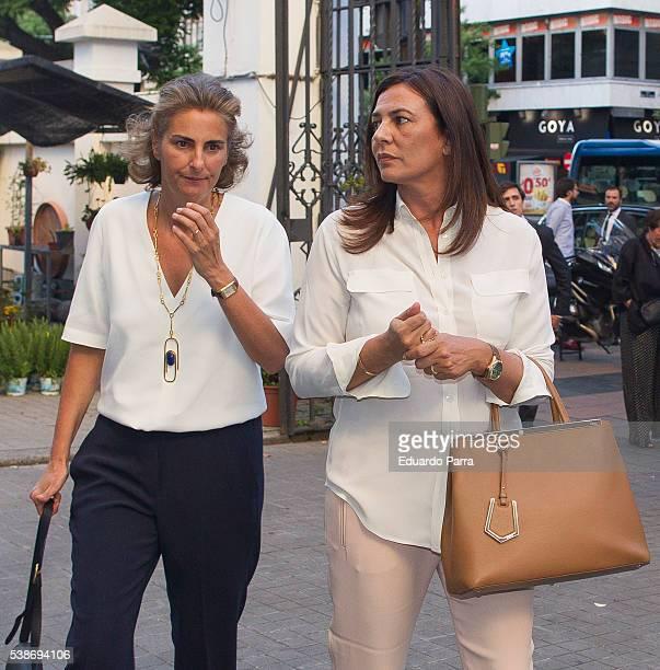 Monica Silva attends the Marquesa de San Eduardo funeral at La Concepcion de nuestra Senora church on June 7 2016 in Madrid Spain