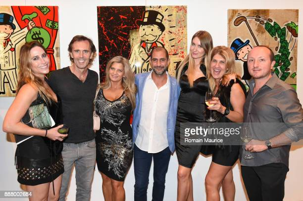 Monica Simon Graham Walsh Monique DiSalvo Amiel Aviman Natalia Aviman Sigal Hillel and Dario Luparello attend Haute Living's VIP PopUp Opening Of...