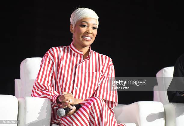 Monica speaks onstage at the 2017 ESSENCE Festival presented by CocaCola at Ernest N Morial Convention Center on June 30 2017 in New Orleans Louisiana