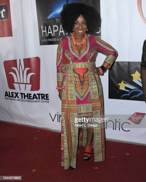 Monica Swaida arrives for 2nd Annual HAPAwards held at Alex Theatre on September 30 2018 in Glendale California