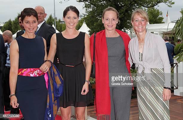 Monica Theodorescu Christina Sprehe Isabell Werth Helen Langehanenberg attend the CHIO 2014 media night on July 15 2014 in Aachen Germany