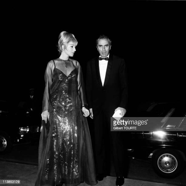 Monica Vitti and Michelangelo Antonioni at Cannes Film Festival in 1967