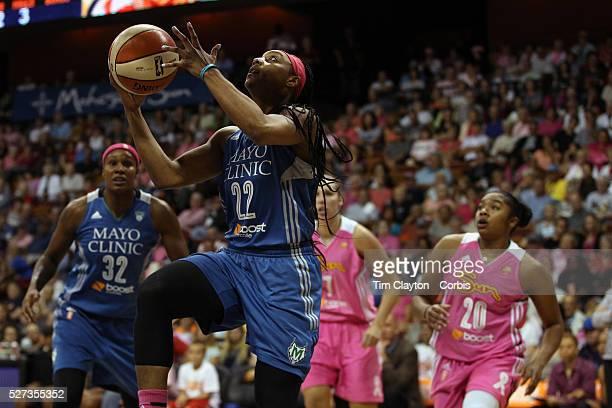 Monica Wright Minnesota Lynx drives to the basket during the Connecticut Sun Vs Minnesota Lynx WNBA regular season game at Mohegan Sun Arena...