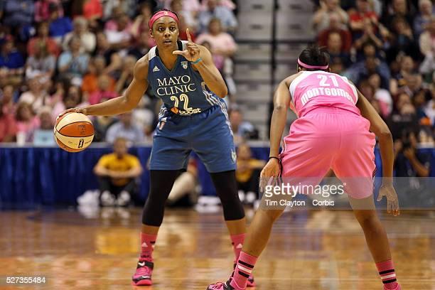Monica Wright Minnesota Lynx in action during the Connecticut Sun Vs Minnesota Lynx WNBA regular season game at Mohegan Sun Arena Uncasville...