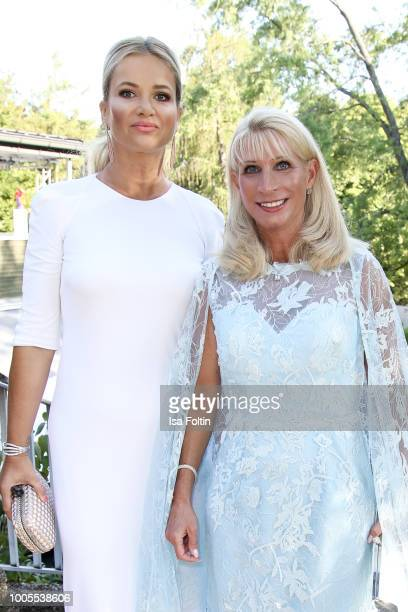 Monika Babisova, wife of the Czech Prime Minister Andrej Babis and Karin Baumueller, wife of the Bavarian Prime Minister Markus Soeder during the...