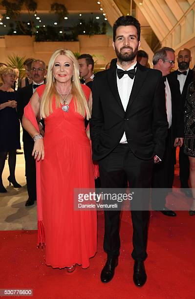 Monika Bacardi and Andrea Iervolino arrive at the Opening Gala Dinner during The 69th Annual Cannes Film Festival on May 11 2016 in Cannes France