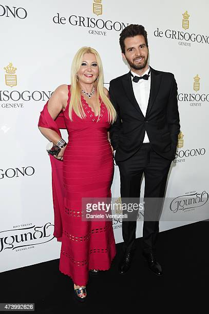 Monika Bacardi and Andrea Iervolino attend the De Grisogono party during the 68th annual Cannes Film Festival on May 19 2015 in Cap d'Antibes France