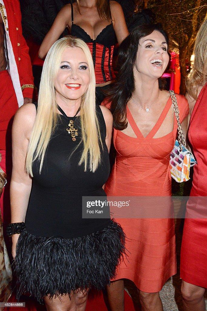 Monika Bacardi and Caroline Barclay attend the Monika Bacardi Summer Party 2014 St Tropez at Les Moulins de Ramatuelle on July 27, 2014 in Saint Tropez, France.