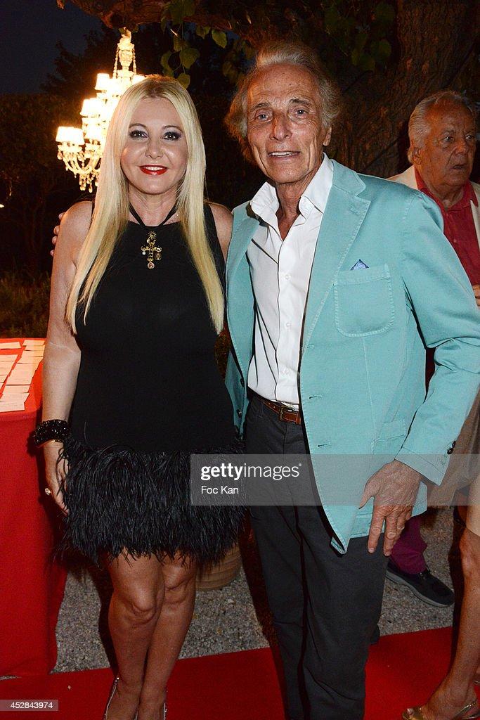 Monika Bacardi and Eric Colmet Daage attend the Monika Bacardi Summer Party 2014 St Tropez at Les Moulins de Ramatuelle on July 27, 2014 in Saint Tropez, France.