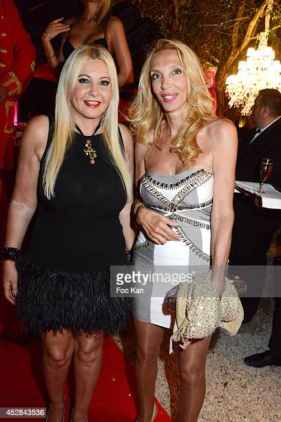 Monika Bacardi and Sylvie Elias attend the Monika Bacardi Summer Party 2014 St Tropez at Les Moulins de Ramatuelle on July 27 2014 in Saint Tropez...
