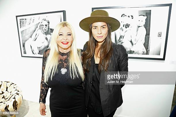 Monika Bacardi and Tasya Van Ree attend the launch of PhotoManagement at galerie Opera on November 10 2015 in Paris France