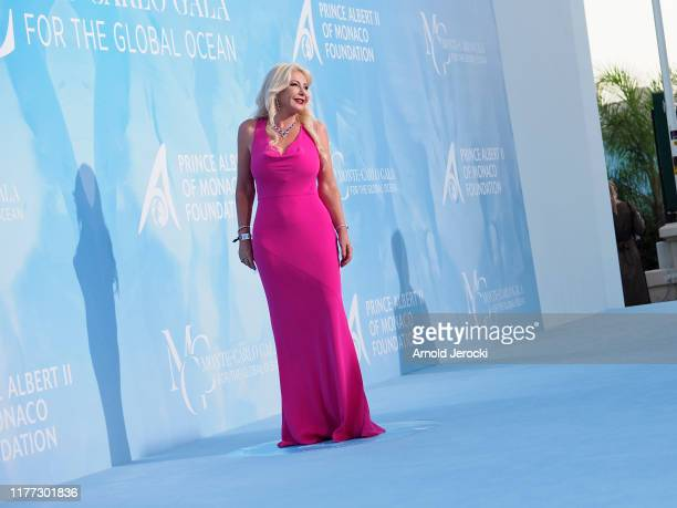 Monika Bacardi attends the Gala for the Global Ocean hosted by HSH Prince Albert II of Monaco at Opera of MonteCarlo on September 26 2019 in...